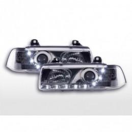 Phares Daylight Feux de jour à LED BMW Série 3 E36 Coupé / Cabrio 92-98 chromé pour conduite à droite, Serie 3 E36 Coupé/Cab