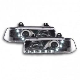 Phares Daylight Feux de jour à LED BMW Série 3 E36 Limo / Touring chromé pour conduite à droite, Serie 3 E36 Berline/Compact