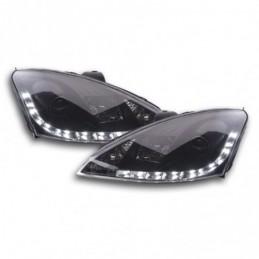 Phare Daylight LED feux de jour Ford Focus 1 C170 noir, Focus I 98-05