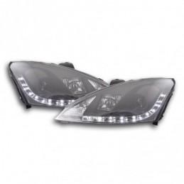 Phare Daylight à LED DRL look Ford Focus 3/4/5 portes. 01-04 noir pour véhicules avec direction à droite, Focus I 98-05