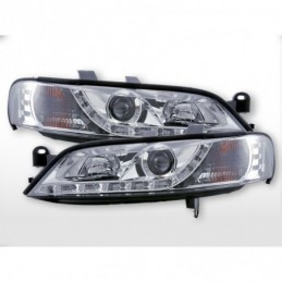 Phare Daylight LED feux de jour Opel Vectra B 95-99 chrome, Vectra B