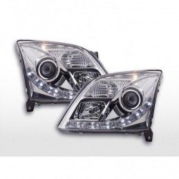 Phare Daylight LED DRL look Opel Vectra C 02-05 chrome, Vectra C