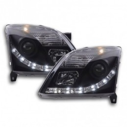 Phare Daylight LED DRL look Opel Vectra C 02-05 noir, Vectra C