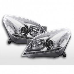 Phare Daylight LED feux de jour Opel Astra H 2004-2009 chrome, Astra H