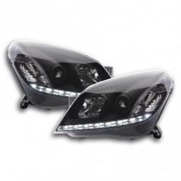 Phare Daylight LED feux de jour Opel Astra H 2004-2009 noir, Astra H