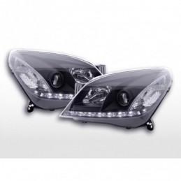 Phare Daylight à LED DRL look Opel Astra H 04-10 noir pour conduite à droite, Astra H