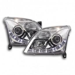 Phare Daylight à LED DRL look Opel Vectra C 02-05 chromé pour conduite à droite, Vectra C