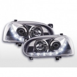 Phare Daylight LED feux de jour VW Golf 3 91-97 chrome, Golf 3