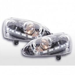 Phare Daylight LED feux de jour VW Golf 5 03-08 chrome, Golf 5
