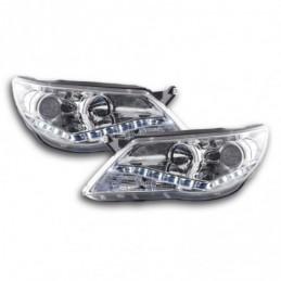 Phare Daylight LED DRL look VW Tiguan 07-11 chromé pour conduite à droite, Tiguan