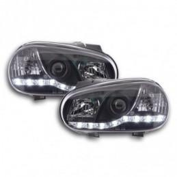 Phares Daylight LED feux de jour VW Golf 4 97-03 noir pour conduite à droite, Golf 4