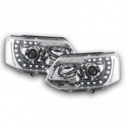Phares Daylight LED feux de jour VW Bus T5 à partir de 2009 chrome, T5