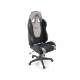 FK siège de sport chaise de bureau pivotante Racecar noir / gris chaise de direction chaise de bureau pivotante, Sièges de burea