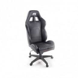 FK siège de sport chaise de bureau pivotante Cyberstar en cuir synthétique noir chaise de bureau pivotante, Sièges de bureau