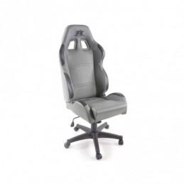 FK siège de sport chaise de bureau pivotante Cyberstar en cuir synthétique gris chaise de bureau pivotante, Sièges de bureau