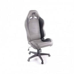 FK siège sport chaise de bureau pivotante Pro Sport chaise de direction gris / noir chaise de bureau pivotante, Sièges de bureau