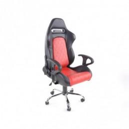 FK siège de sport chaise de bureau pivotante Detroit noir / rouge chaise de direction chaise de bureau pivotante, Sièges de bure