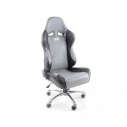 FK siège de sport chaise de bureau pivotante Baltimore noir / gris chaise de direction chaise de bureau pivotante, Sièges de bur