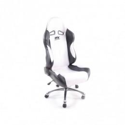 FK siège de sport chaise de bureau pivotante Baltimore noir / blanc chaise de direction chaise pivotante chaise de bureau, Siège