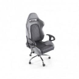 Chaise de bureau pivotante FK Sports Seat Lincoln Chaise de direction noire / grise Chaise de bureau pivotante, Sièges de bureau