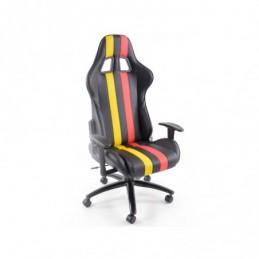 FK Sports Seat Chaise de bureau pivotante Toronto Chaise de direction noir / rouge / jaune Chaise de bureau Chaise de bureau, Si