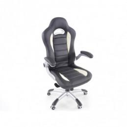 FK siège de sport chaise de bureau pivotante Laredo noir / blanc chaise de direction chaise pivotante chaise de bureau, Sièges d