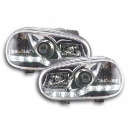 Phares Daylight LED Feux de jour LED VW Golf 4 97-03 chrome, Golf 4