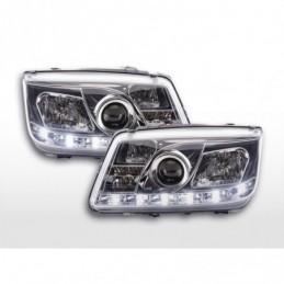 Phare Daylight LED feux de jour VW Bora 98-05 chrome, Bora
