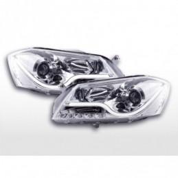 Phare Daylight LED DRL look VW Passat B7 3C 10- chrome, Passat B7 10-15