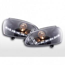 Phare Daylight LED feux diurnes VW Golf 5 type 1K 03-08 noir pour conduite à droite, Golf 5
