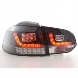 Kit feux arrières LED VW Golf 6 type 1K 2008 à 2012 noir avec clignotants LED, Golf 6