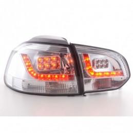 Kit feux arrières LED VW Golf 6 type 1K 2008-2012 chrome, Golf 6