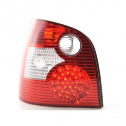 Kit feux arrières LED VW Polo type 9N 01-05 rouge / clair, Polo IV 9N/9N3 01-09