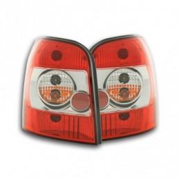 Feux arrières set Audi A4 Avant type B5 95-00 rouge / blanc, A4 B5 94-01