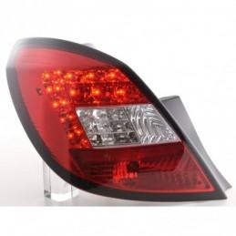 Kit feux arrières LED Opel Corsa D 5 portes 06-10 rouge / clair, Corsa D
