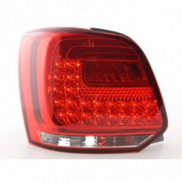 Feux arrière à LED VW Polo 6R à partir de 2009 clair / rouge, Polo V 6R 09-14