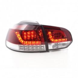 Kit feux arrières LED VW Golf 6 type 1K 2008-2012 rouge / clair avec clignotants LED pour conduite à droite, Golf 6