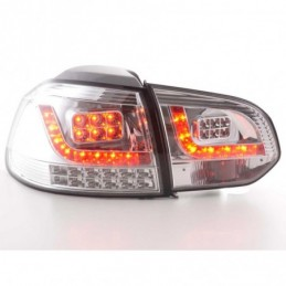 Set feux arrières LED VW Golf 6 type 1K 2008-2012 chrome avec clignotants LED, Golf 6