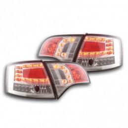 Kit feux arrières LED Audi A4 Avant type 8E 04-08 chrome, A4 B7 04-08