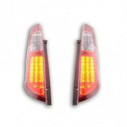 Kit feux arrières LED Ford Focus 2 5 portes 04-08 rouge / clair, Focus II 04-10