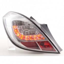 Kit feux arrières LED Opel Corsa D 3 portes 06-10 chrome, Corsa D