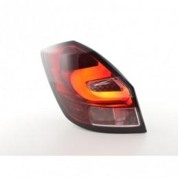 Feux arrière à LED Skoda Fabia 5 portes à partir de 2007 clair / rouge, Fabia II 07-15