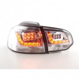 Kit feux arrières LED VW Golf 6 type 1K 2008-2012 chrome pour conduite à droite, Golf 6