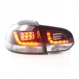 Kit feux arrières LED VW Golf 6 type 1K 2008-2012 noir pour conduite à droite, Golf 6