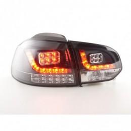 Kit feux arrières LED VW Golf 6 type 1K 2008-2012 noir avec clignotants LED pour conduite à droite, Golf 6