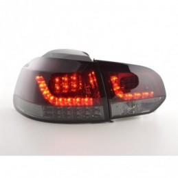 Kit feux arrières LED VW Golf 6 type 1K 2008-2012 rouge / noir avec clignotants LED pour conduite à droite, Golf 6