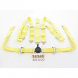 Harnais ceinture harnais 5 points harnais racing universel jaune, Ceintures / Harnais