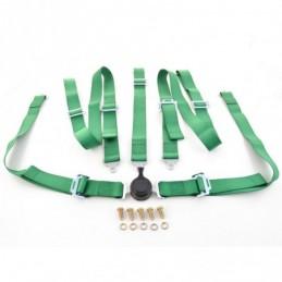 Harnais ceinture harnais 5 points harnais racing universel vert, Ceintures / Harnais