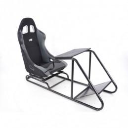 Siège de jeu FK Simulateur de course de siège de jeu eGaming Seats Estoril noir / gris, Sièges de Simulation