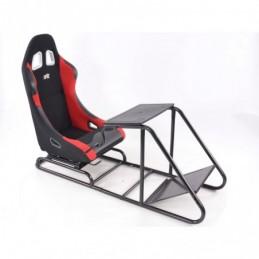 Siège de jeu FK Simulateur de course de siège de jeu eGaming Seats Estoril noir / rouge, Sièges de Simulation